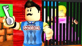 Roblox - HELLO NEIGHBOR - SECRET GIRL PRISONER?!