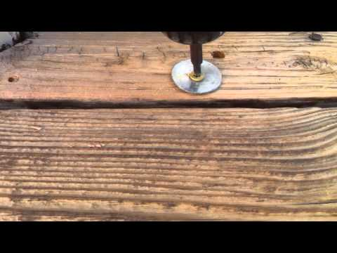 Fixing a Culed up Deck Board
