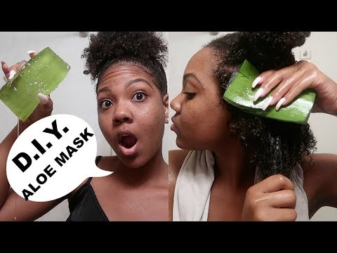 D.I.Y. Aloe Vera Hair Mask for Scalp Psoriasis