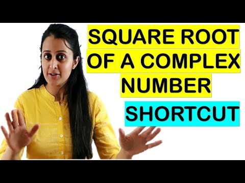 SQUARE ROOT OF A COMPLEX NUMBER IN 10 SECONDS// JEE/EAMCET/NDA TRICKS