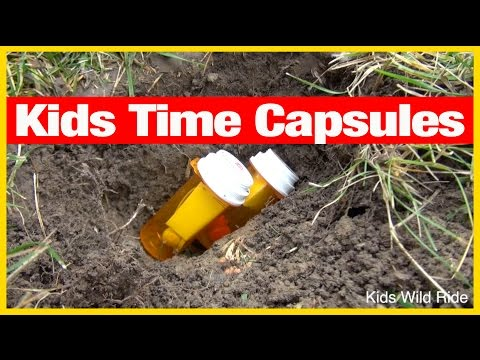 Kids Time Capsule!  A How-To YouTube Into The Future Experiment! Toys Buried