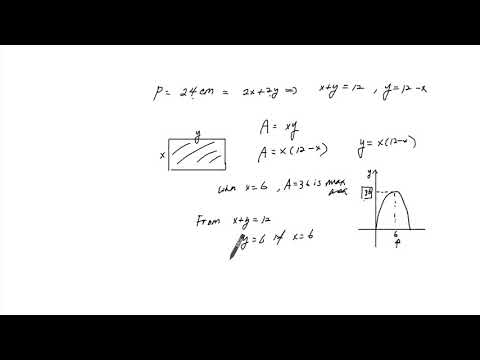 1. Finding Maximum Area given Perimeter