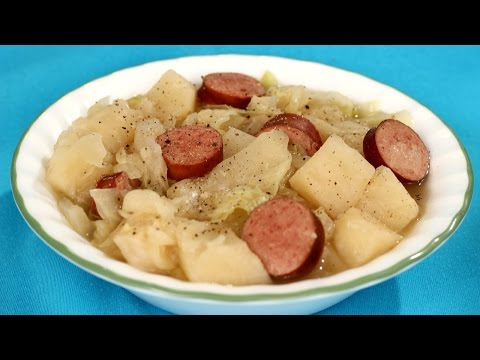 #CrockPot Cabbage and Sausage #Recipe