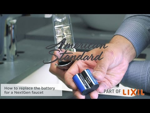 How to Replace the Battery in the NextGen Selectronic Commercial Faucet from American Standard