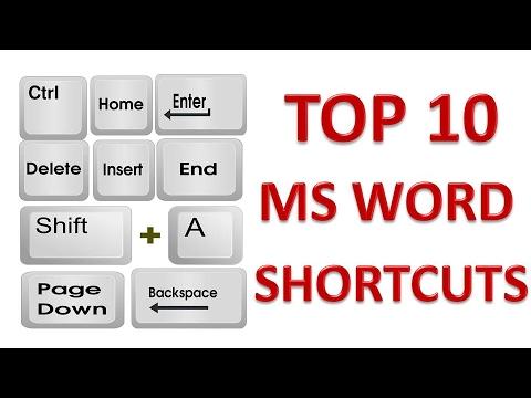 TOP 10 MS Word Most Useful Shortcuts  | TOP 10 Microsoft Word Shortcut Keys