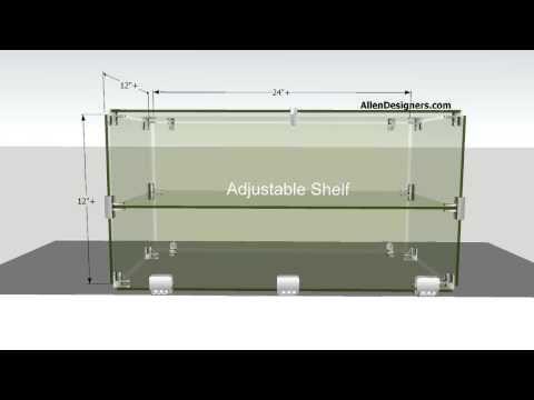 DIY Glass Countertop Display Case