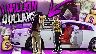 I SURPRISED A GOLD DIGGER WITH $1 MILLION DOLLARS AND THIS HAPPENED!!