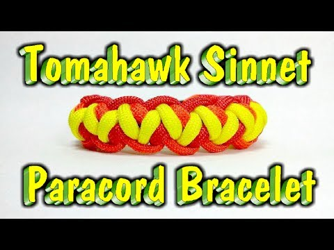 Paracord How to Make a Tomahawk Sinnet Bracelet With Buckles