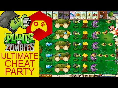 Plants VS Zombies - ULTIMATE CHEAT PARTY!!!