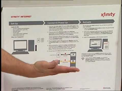 Unboxing the Internet: How To Unpack and Install your Comcast Internet Self-Installation Kit