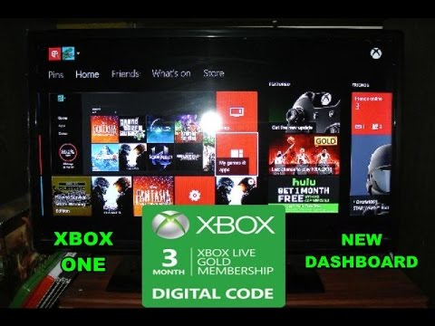 HOW TO REDEEM YOUR CODE ON XBOX LIVE ON YOUR NEW XBOX ONE DASHBOARD