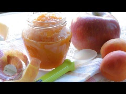 Apricot Apple puree - baby food recipe +4M
