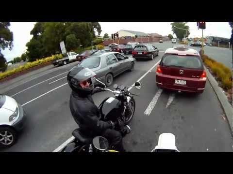Motorcycle ride, Port Hills, Christchurch, New Zealand