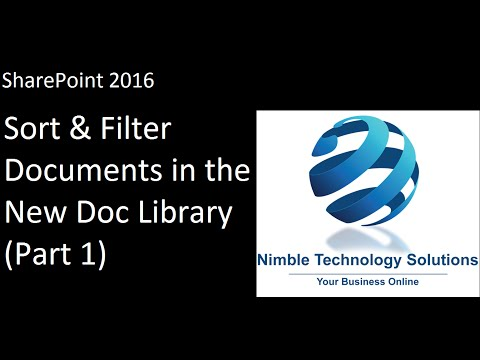 Sort and Filter Document Libraries in SharePoint 2016 (Part 1)