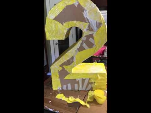 Number 2 piñata making part 2