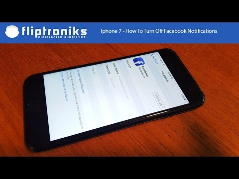 Iphone 7 / Iphone 7 Plus - How To Turn Off Facebook Notifications - Fliptroniks.com