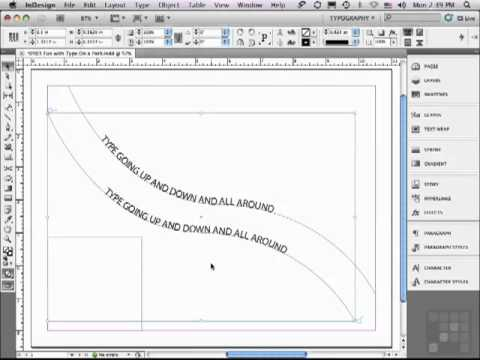Correct way to Format Type on a Path with Adobe InDesign CS5