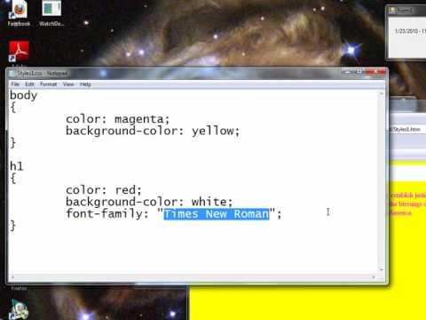 HTML Font Styles