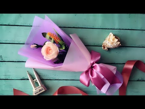 ABC TV | How To Make Flower Bouquet With Single Rose #3 - Craft Tutorial