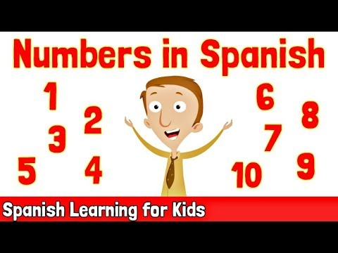 Numbers in Spanish 1-10 | Spanish Learning for Kids