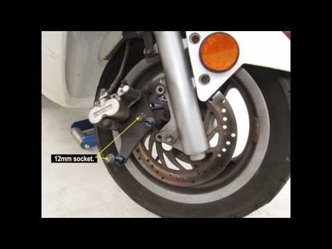 Kymco 250 Scooter Front Tire Change & Dismount Rim - Bet & Win 250, Grand Dink