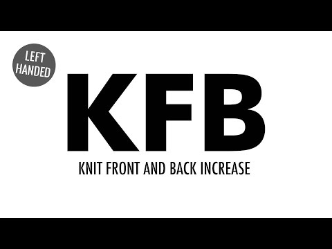 The Knit Front and Back Increase (KFB) :: Knitting Increase :: Left Handed