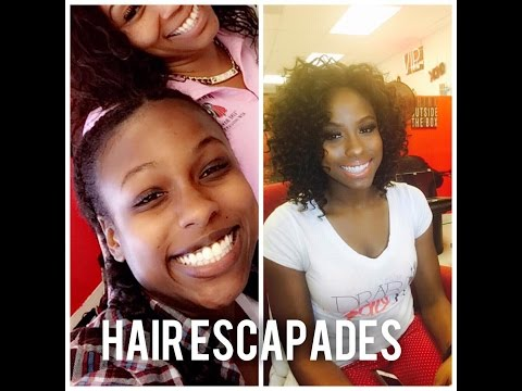 Curly Sew In Weave Makeover on my Receptionist