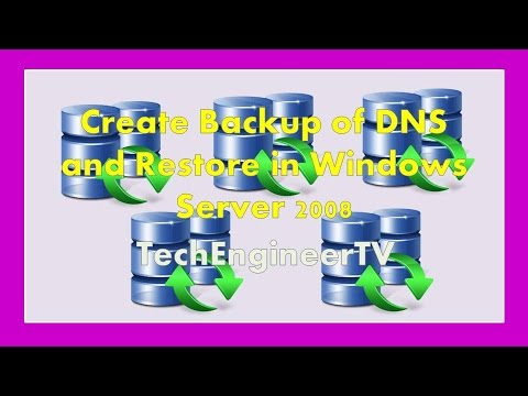 Create Backup of DNS and Restore in Windows Server 2008