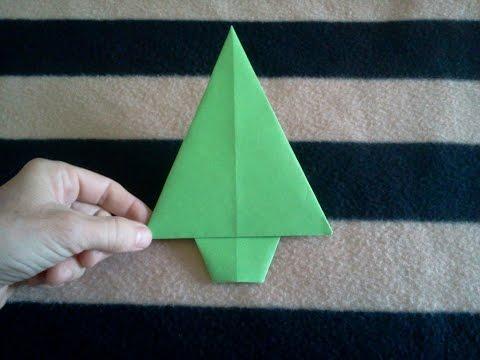 Origami Fir #Tree - Abeto de papel
