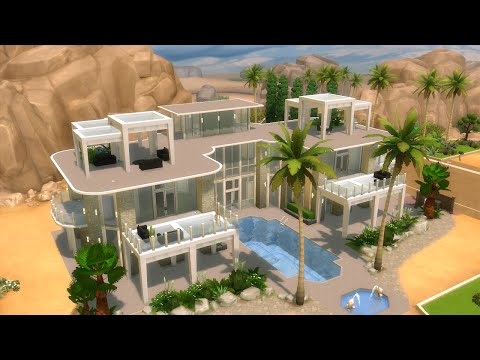 The Sims 4 - House Building - Modern Mansion with GLASS FLOOR