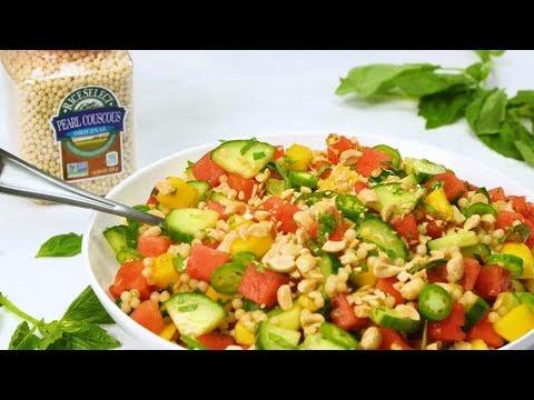 Cucumber, Couscous, Basil and Watermelon Salad