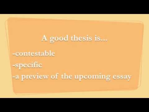 How to Write Thesis Statements for the AP Lang Exam