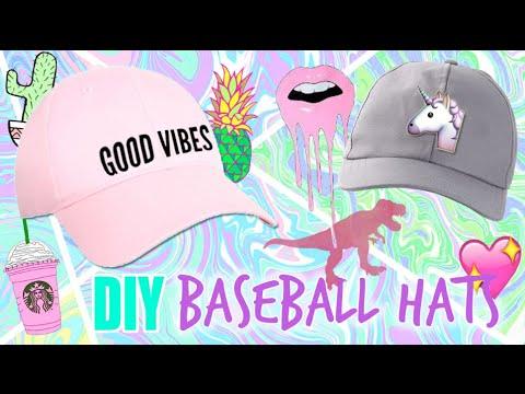 DIY BASEBALL HATS // DIY GRAPHIC BASEBALL HAT + DIY SHRINKY DINK PINS