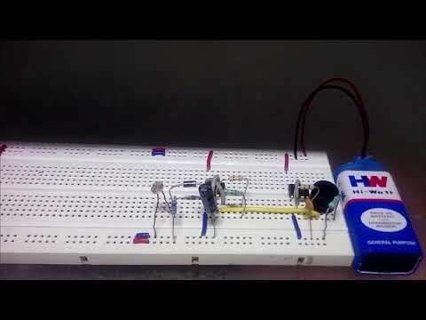 Fridge Door Alarm Circuit using 555 and LDR