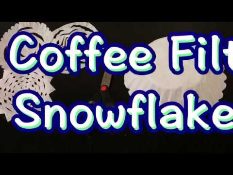 How To Make A Coffee Filter Snowflake