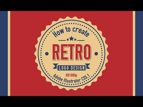 How to create RETRO Logo Design in Adobe Illustrator CS5 HD1080p
