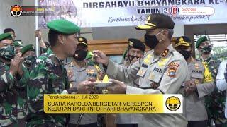SUARA KAPOLDA BERGETAR MERESPON KEJUTAN DARI TNI SAAT HARI BHAYANGKARA