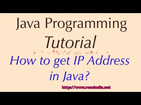 How to get IP Address in Java?