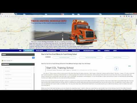 How to Get FREE GRANTS for Truck Driving School
