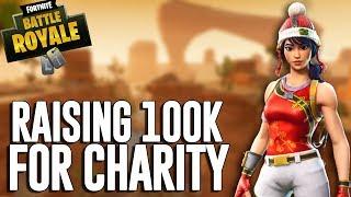 Raising 100k For Charity!! - Fortnite Battle Royale Gameplay - Ninja