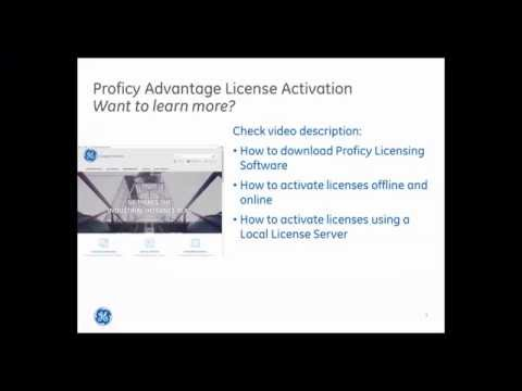 How to use Proficy Advantage License Activation