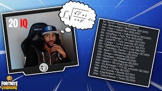 DAEQUAN TRIES TO SOLVE SIMPLE MATH PROBLEMS! *20 IQ* - Fortnite Moments #139