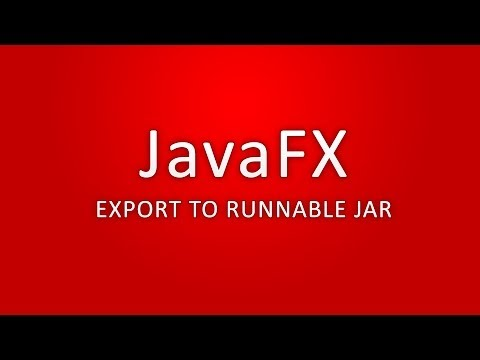 JavaFX - Export to runnable jar