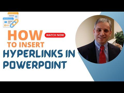 Inserting Hyperlinks in PowerPoint Slides
