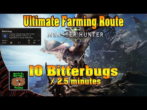 Monster Hunter World - Ultimate Bitterbug Farming Route - 10 in 2 minutes