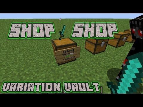 Minecraft Bukkit Plugin - SHOP - Super chest + display shops!
