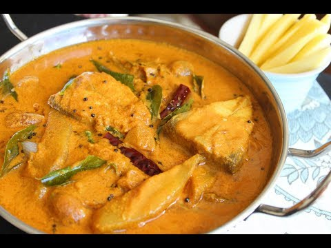 Spicy Kerala fish curry with raw mango/Meen manga curry