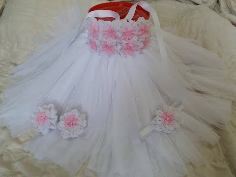 DIY how to make Tutu dress for baby christening /Baptism or Birthdays