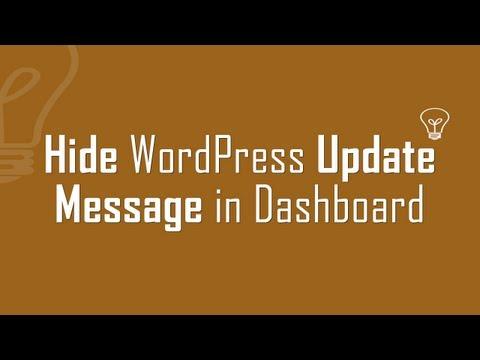 Hide WordPress version update alert in Dashboard