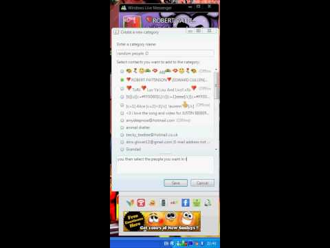 how to create a category in windows live messenger